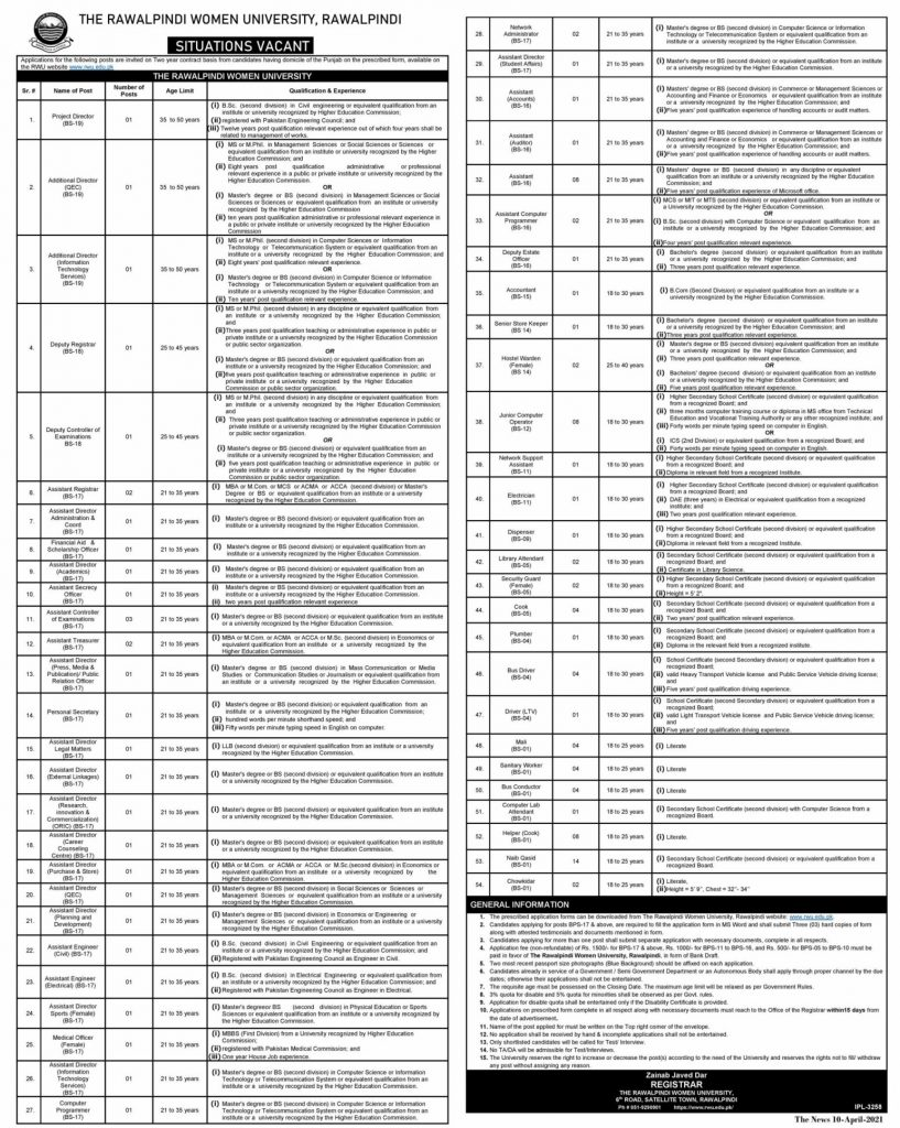 RWU Non Teaching JOBS BS17 to 01 Full Image compress scaled 2